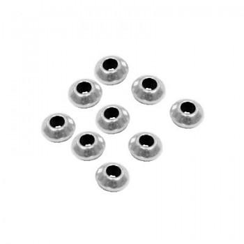 Lot de 10 perles coniques en metal placage argent-6mm