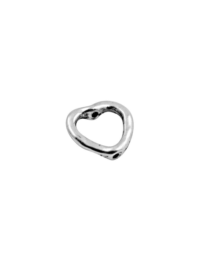 Perle anneau en forme de coeur couleur argent tibetain-13.5mm