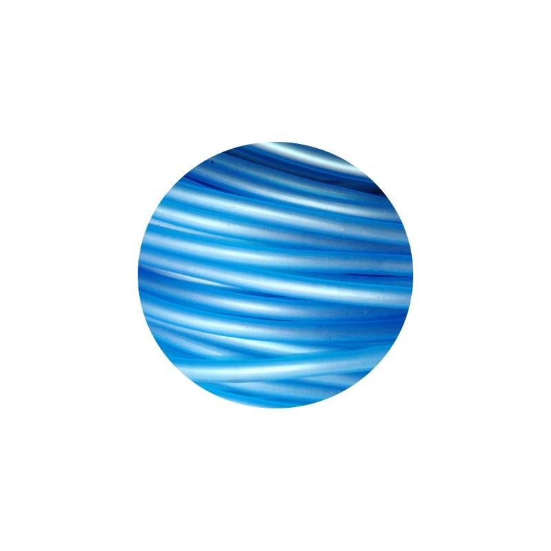 Cordon pvc creux de couleur bleue translucide 5mm for Pvc de couleur