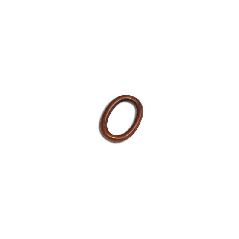 anneau ovale et lisse en metal couleur cuivre antique 14mm. Black Bedroom Furniture Sets. Home Design Ideas