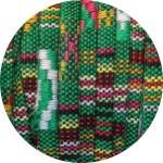Lacet ethnique plat 5mm tons verts-vente au cm
