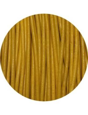 Cuir jaune pour bijouterie fantaisie-2mm-Europe