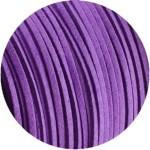 Lacet de suedine 3mm de couleur violette