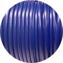 Lacet de cuir rond bleu violet de 5mm-Espagne-Premium